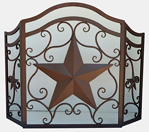 LL Home Metal Heavy Star FIRE Screen Home Decor