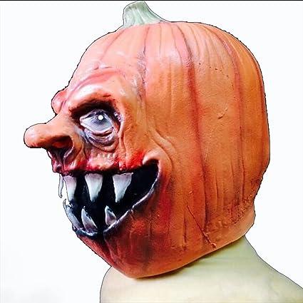DRSMDR Capucha De Máscara De Calabaza, Decoración De Terror De Halloween, Accesorios De Rendimiento