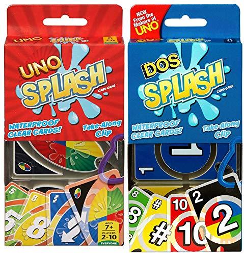 Uno Splash and Dos Splash Multipack | Number One Pool Game for Kids