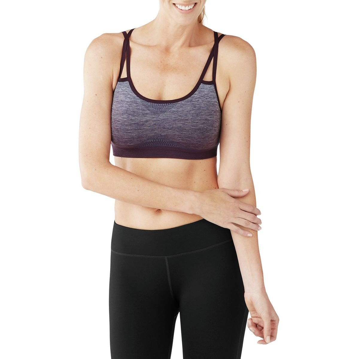 c999caab7b SmartWool Women s PhD Seamless Strappy Bra (Bordeaux) X-Small   Amazon.co.uk  Clothing