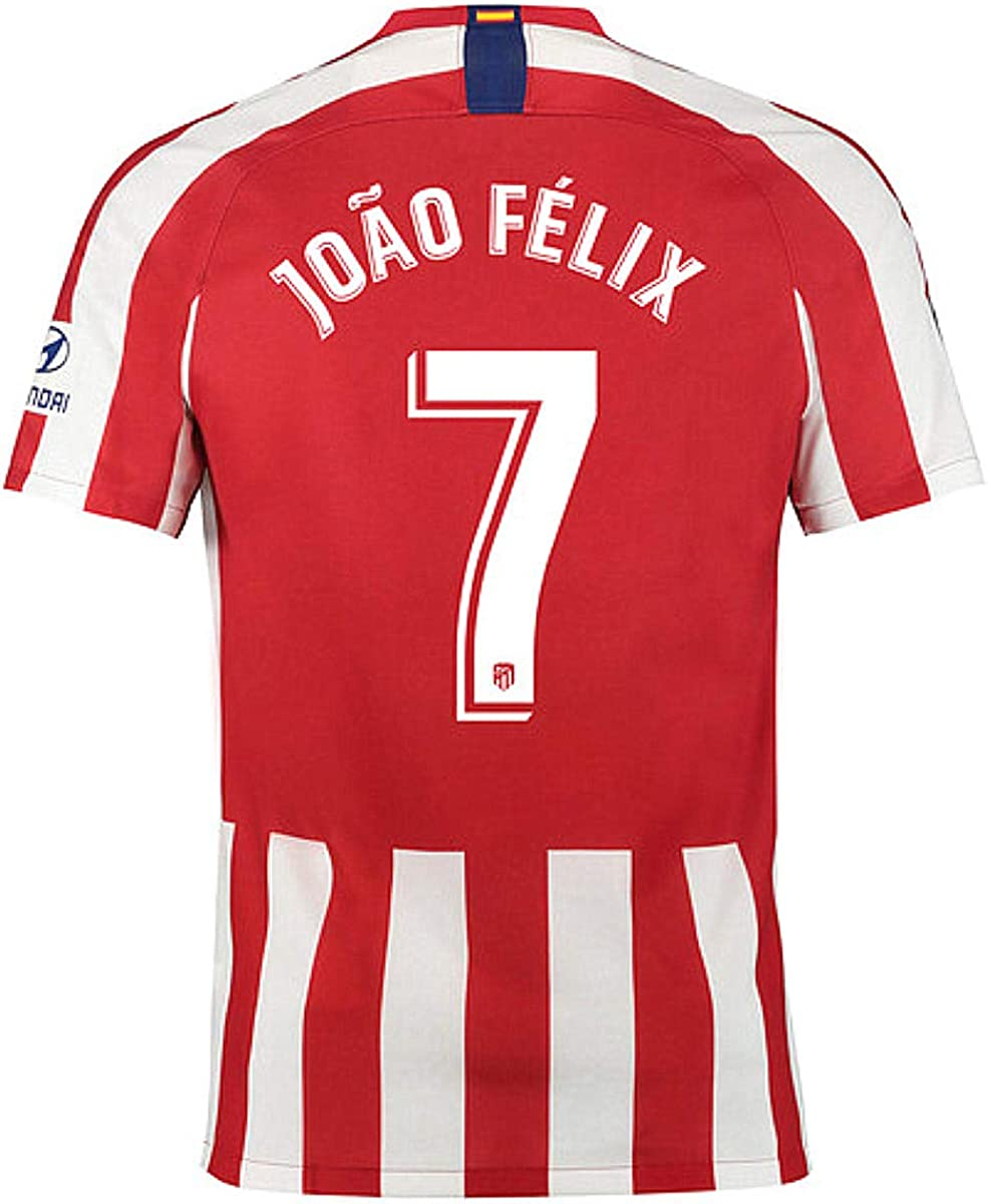 Atletico Madrid Felix Jersey #7 2019-2020 Home Football Soccer T-Shirt Jersey Red