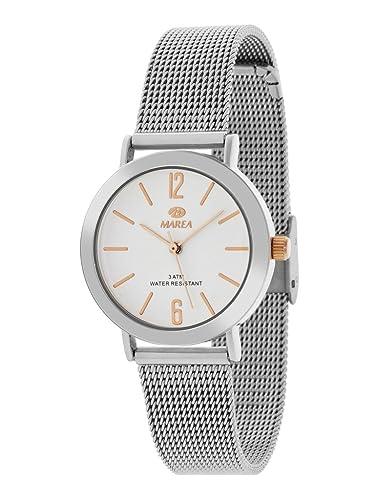 cb8bd9147926 MAREA B41188 6 Reloj de Mujer Cuarzo Metal Malla Milanesa Tamaño 32 mm   Amazon.es  Relojes