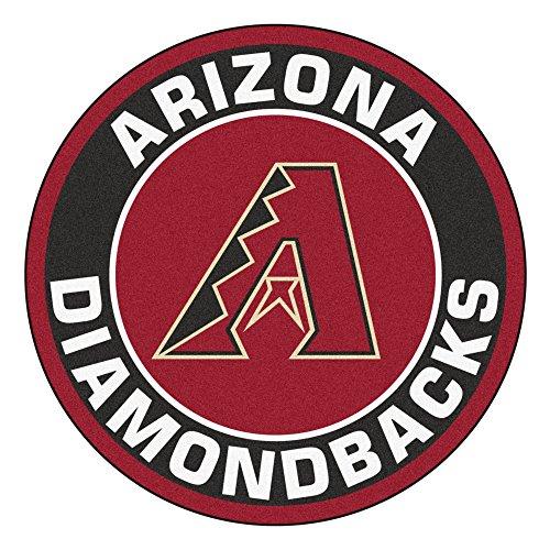 (MLB Arizona Diamondbacks Rounded Non-Skid Mat Area Rug )