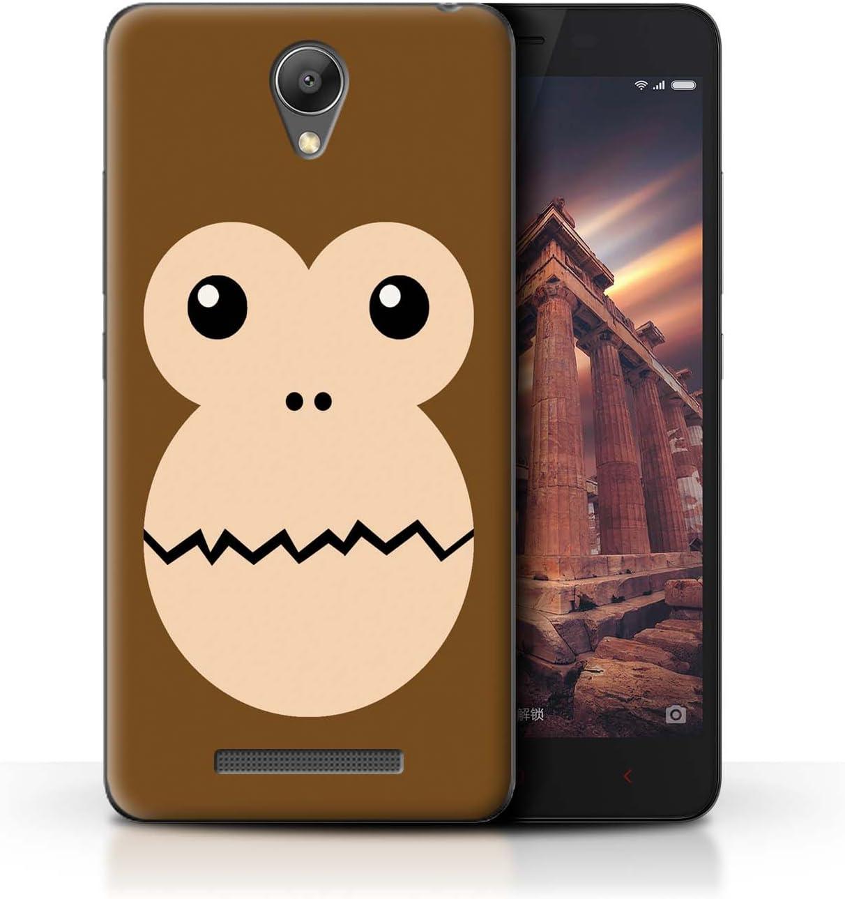 Stuff4® ® Phone Case/Cover/Skin/Xia de CC/Dibujos Animados Animal Faces Collection Mono Xiaomi Redmi Note 2 (Prime): Amazon.es: Informática