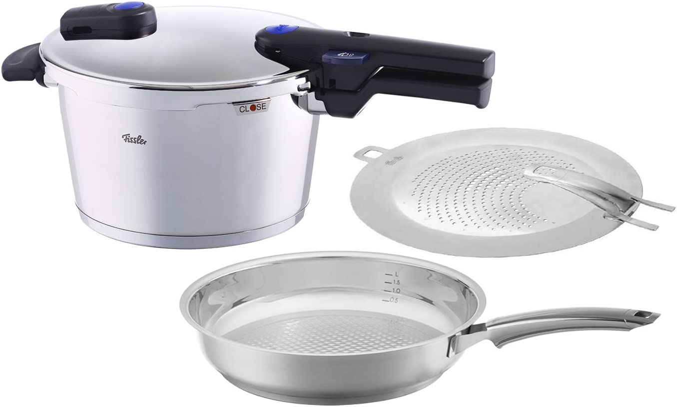 Fissler FISS-AMZ130BOM Pressure Cooker and Frypan, One Size, Steel