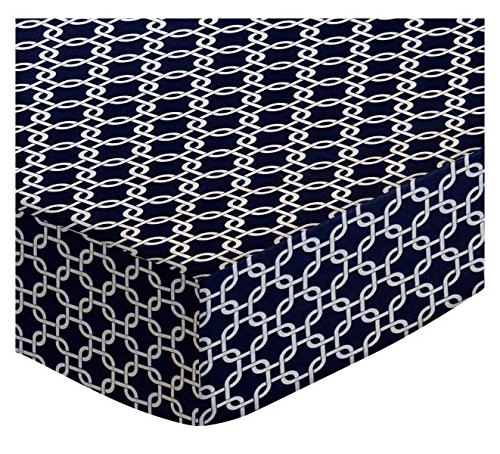 SheetWorld-Fitted-Cradle-Sheet-Navy-Links-Made-In-USA