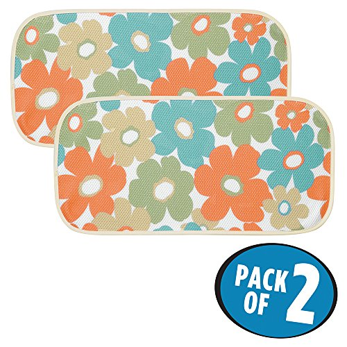 mDesign Floral Kitchen Countertop Absorbent