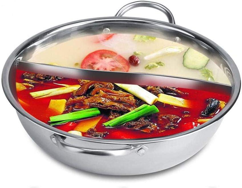 WYP 2 Taille en Acier Hot Pot 2 Compartiment Saveur S/éparateur Induction S/éparation Polissage Soupe De Cuisson Marmite Ustensiles De Cuisine Disponibles