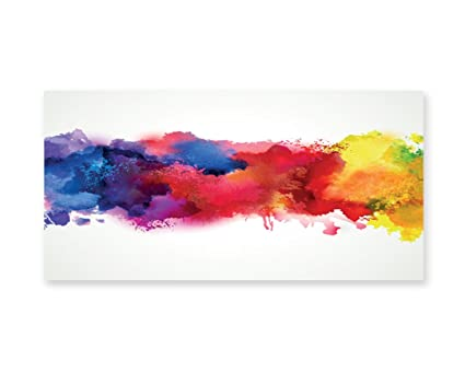 amazon com lunarable abstract wall art vibrant stains of
