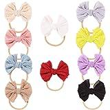 DANMY Baby Rabbit Ears Headband Girl's Elastic Soft Turban Bow Cotton Cloth Hair Band