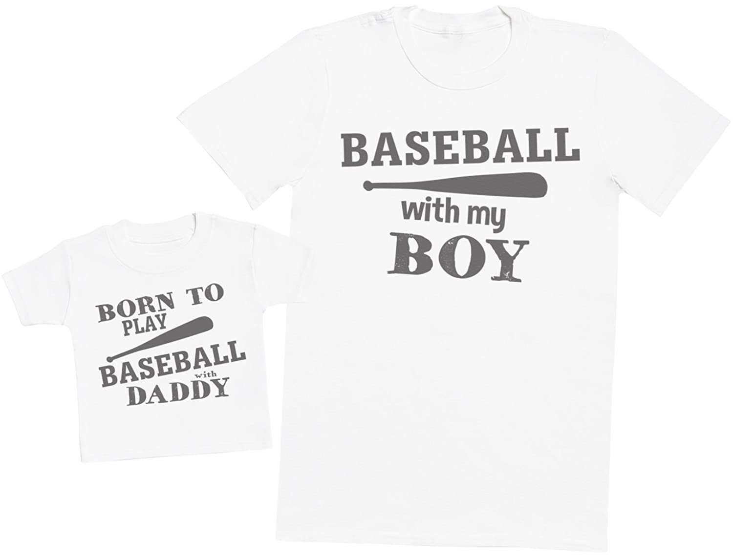 Born To Play Baseball With Daddy - Matching Father Baby Gift