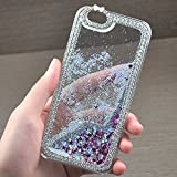 Note 3 Case, Caselo Moving Protective Luxurious Diamond Hard Plastic Case Cover Flowing Liquid Dazzling Bling Glitter Sparkle Stars Skin Slim-Fit for Samsung Galaxy Note 3 -White
