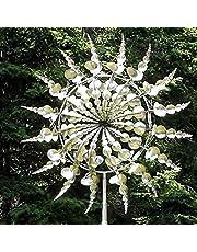 Yigenten Unieke en magische metalen windmolen: sculpturen bewegen met de wind, outdoor windvanger-metalen tuindecoratie, zonne-wind-spinner-vanger voor terrasgrasdecoratie (1 stuks)