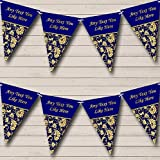 Old Regal Gold And Navy Blue Vintage Retirement Party Bunting Banner