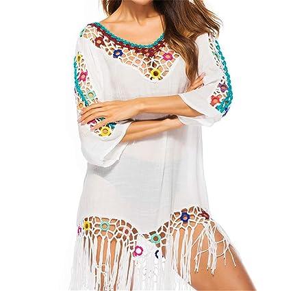 531cf67a2d Women's Swimsuit Beach Wear Wrap Women V Neck Hollow Out Lace Crochet  Tassel Swimsuit Bikini Beach