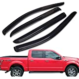Lightronic WV94155 Sun//Rain Guard Vent Shade Window Visors for 2010-2014 Ford F150Svt Raptor Supercrew and 2009-2014 Ford F150 Supercrew Vent Visors 4Pc