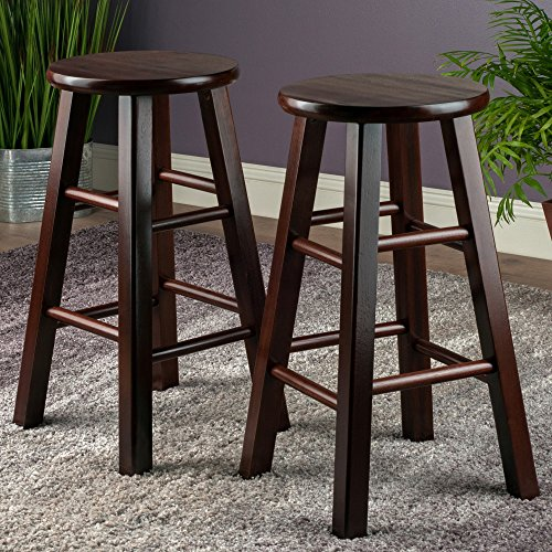 Winsome Set Of 2 Square Leg 24 Inch Counter Stool