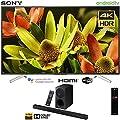 "Sony XBR70X830F 70""-Class Bravia 4K HDR Ultra HD Smart LED TV (2018 Model) with Sony HTX9000F 2.1ch Soundbar with Dolby Atmos"