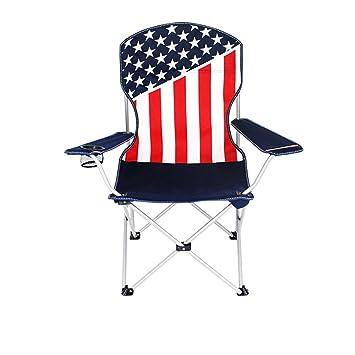 RFVBNM Las estrellas y las rayas de la manera colorean la silla de playa plegable portátil