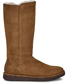 16f0f33bf2c Amazon.com | UGG Women's Abree II Leather Nero Boot 5 B (M) | Snow Boots