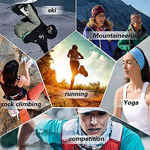 Unisex Summer Neck Gaiter Bandana American Flag USA White Stars Half Face Mask Scarf Outdoor Multipurpose Headband for Men Women Anti-Dust Headwear Balaclava for Running Fishing Cycling Sport Gym Ski