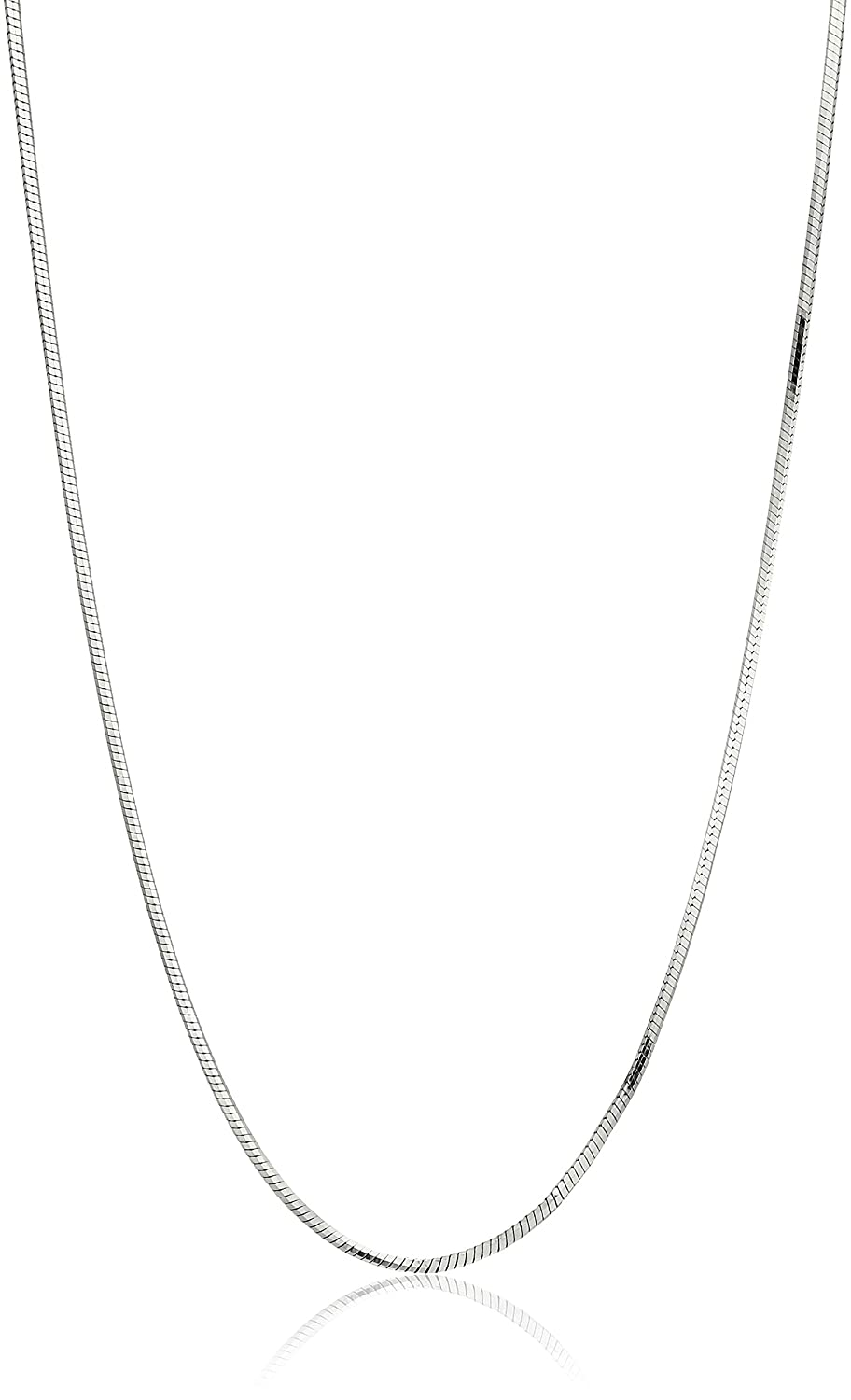 Decadence Sterling Silver Rhodium 0.90mm Octagonal Snake 020 Chain
