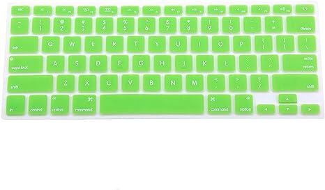 Housse de protection Silicone verte pour clavier de MacBook
