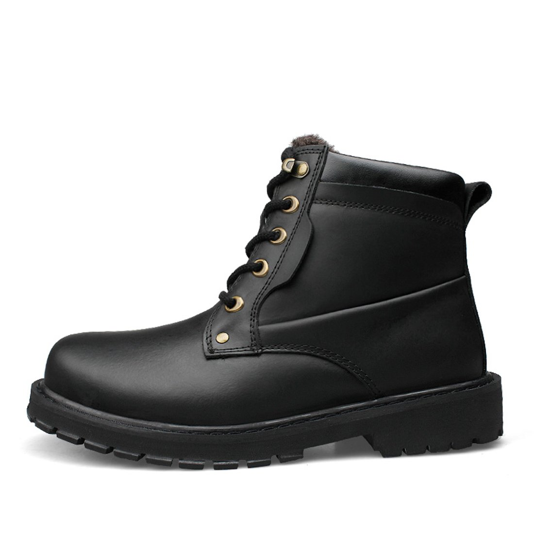 061131aac0f Amazon.com | BARKOR Boots Men's High Cut Leather Shoes Martin Boots ...