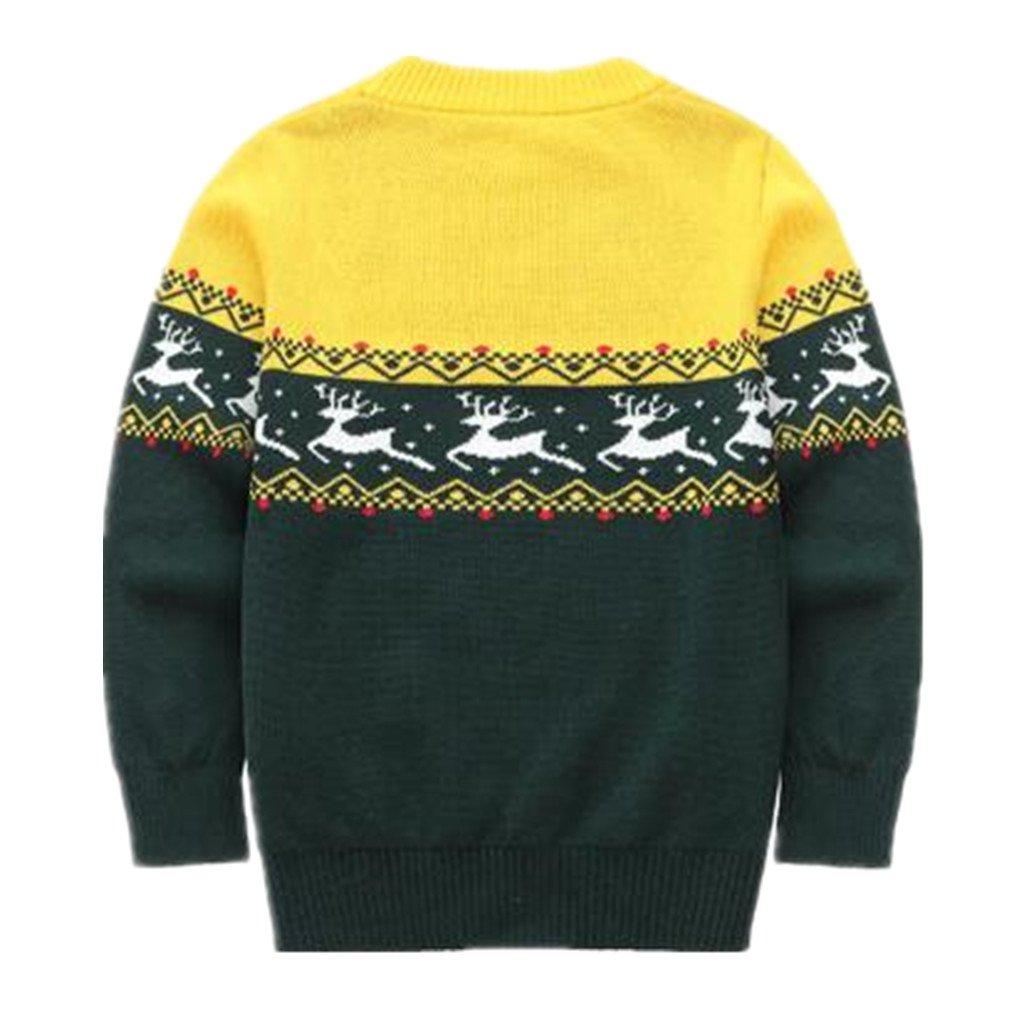 Motteecity Boys Cartoon Pullover Sweater