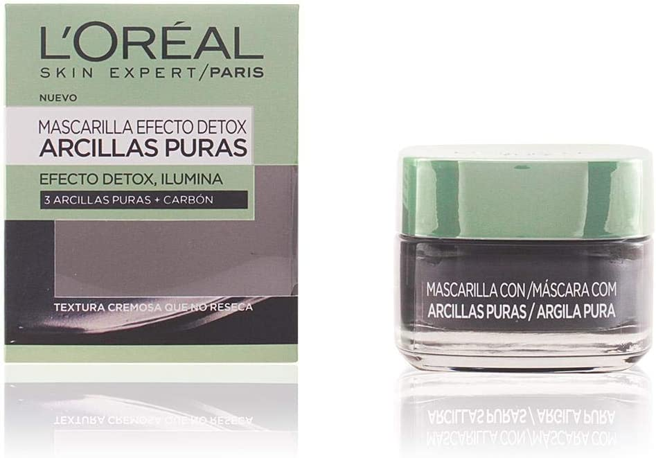 L'Oreal Paris Arcillas Puras Mascarilla Purificante, Tono: Negra - Total: 50 ml