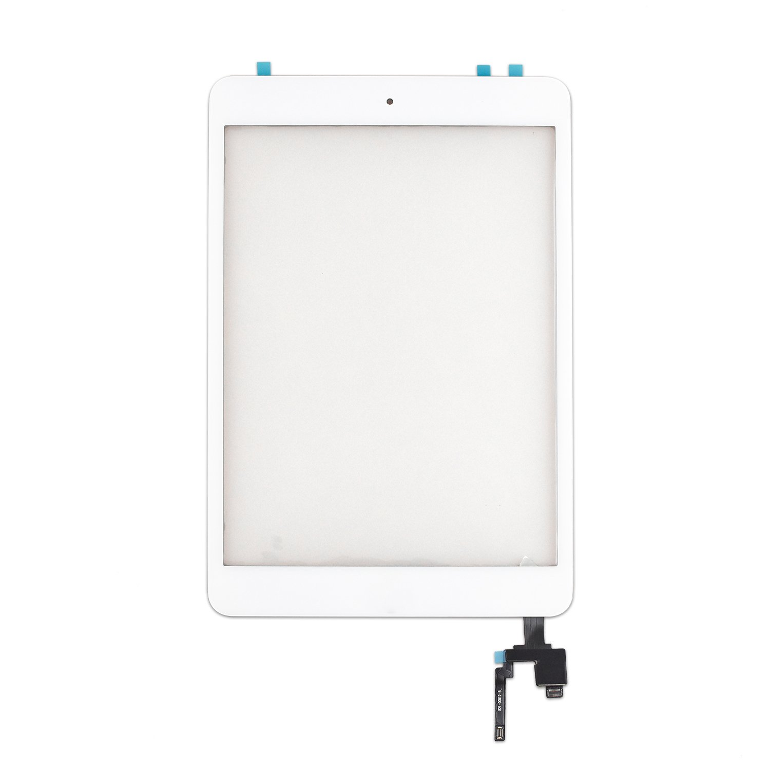 Glass Screen Digitizer Complete Full Assembly for iPad Mini 3 with IC Chip, Home Button, OEM Adhesive (White)