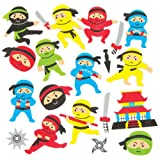 kids stickers ninja - Ninja Foam Stickers for Children to Decorate & Embellish Collage Cards and Crafts (Pack of 120)