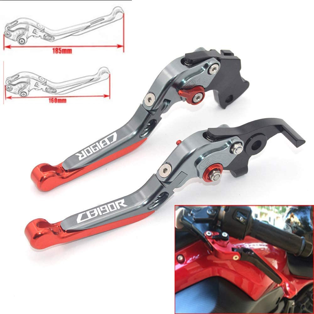 CNC Motorcycle Foldable Extendable Clutch Brake Lever For Honda CBF1000 A 2010 2011 2012 2013 Titanium