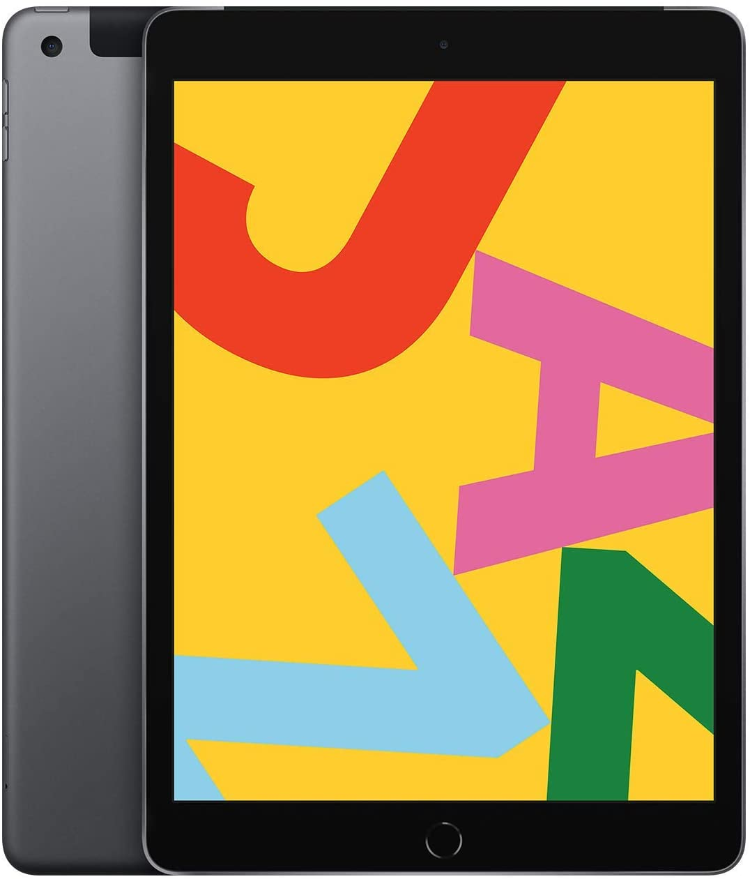 Apple iPad (10.2-Inch, Wi-Fi + Cellular, 32GB) - Space Gray (Latest Model) (Renewed)