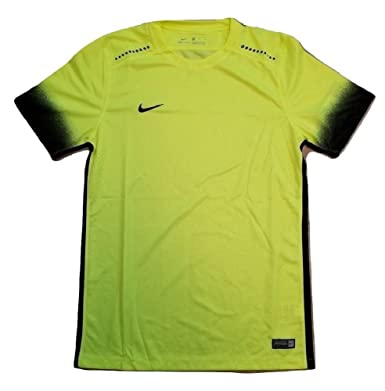 ddadaf017 Image Unavailable. Image not available for. Color: Nike Laser Printed III  Volt Men's Dri-Fit T Shirt Jersey Top ...