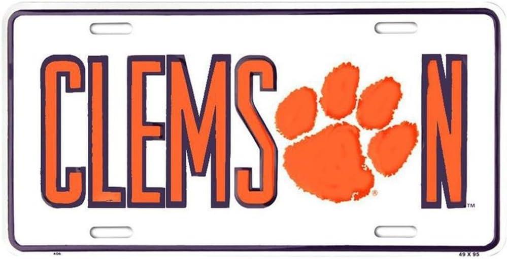 Signs 4 Fun Slcct Clemson Tigers, License Plate