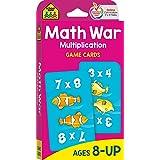 School Zone - Math War Multiplication Game Cards - Ages 8+, 3rd Grade, 4th Grade, 5th Grade, Math Games, Beginning Algebra, M