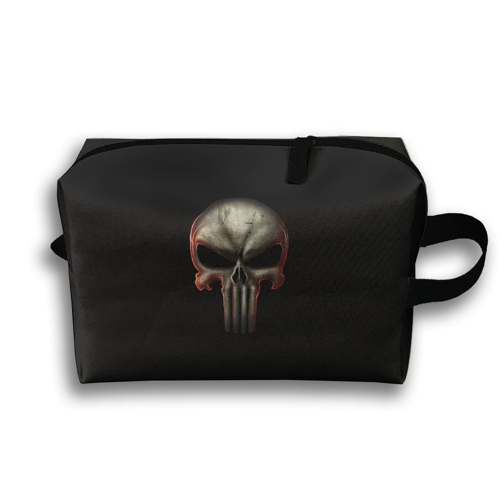 Travel Gadget Organizer Portable Toiletry Bag Cosmetic Pouch Medicines Storage Holder Skull Punisher High-Capacity Auh22