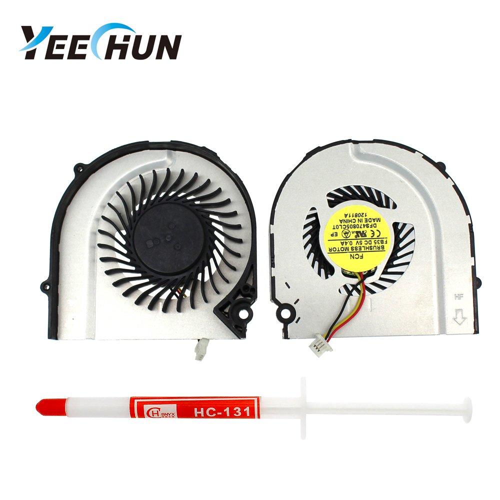 YEECHUN CPU Cooling Fan for HP Pavilion DM4 DM4T DM4-3000 DM4-3024TX DM4-3052nr DM4-3055dx DM4-3013cl DM4-3007xx DM4-3050us DM4-3056nr Series P/N: 669934-001 669935-001 KSB05105HA-BE11
