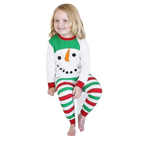 HCFKJ Ropa Bebe NiñA Invierno NiñO Manga Larga Camisetas Beb Conjuntos Moda MuñEco De Nieve Camiseta