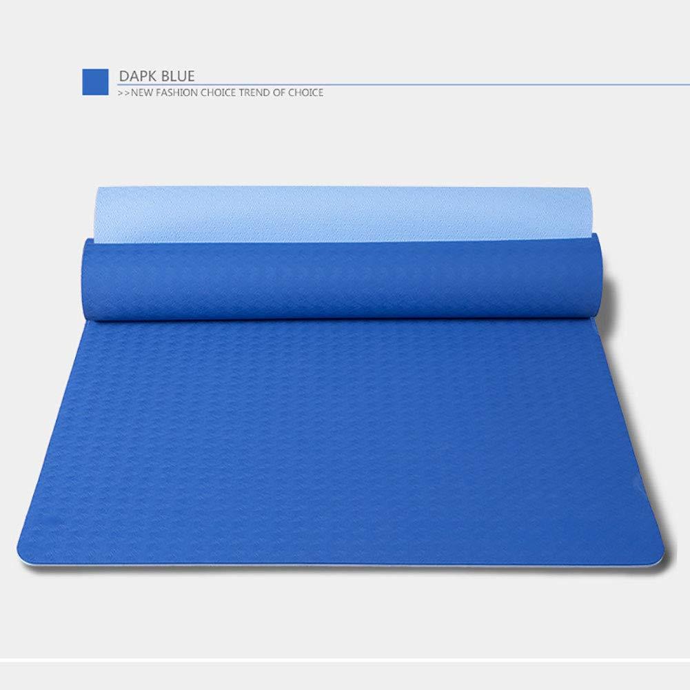 WDXIN Yogamatte Rutschfest Zweifarbig TPE Umweltfreundlich, Hautfreundlich, SGS Geprüft,Fitnessmatte, Sportmatte, Bodenmatte.