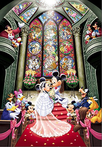 Tenyo Disney Fantasy Celebration Minnie & Mickey Wedding Jigsaw Puzzle (1000 (Celebration Jigsaw Puzzle)