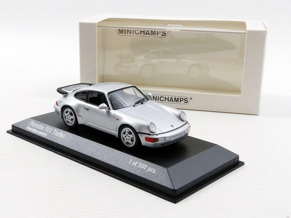 Minichamps - Maqueta de Porsche 911/964 Turbo - 1990 (Escala 1/43, 943069103, Plata: Amazon.es: Juguetes y juegos