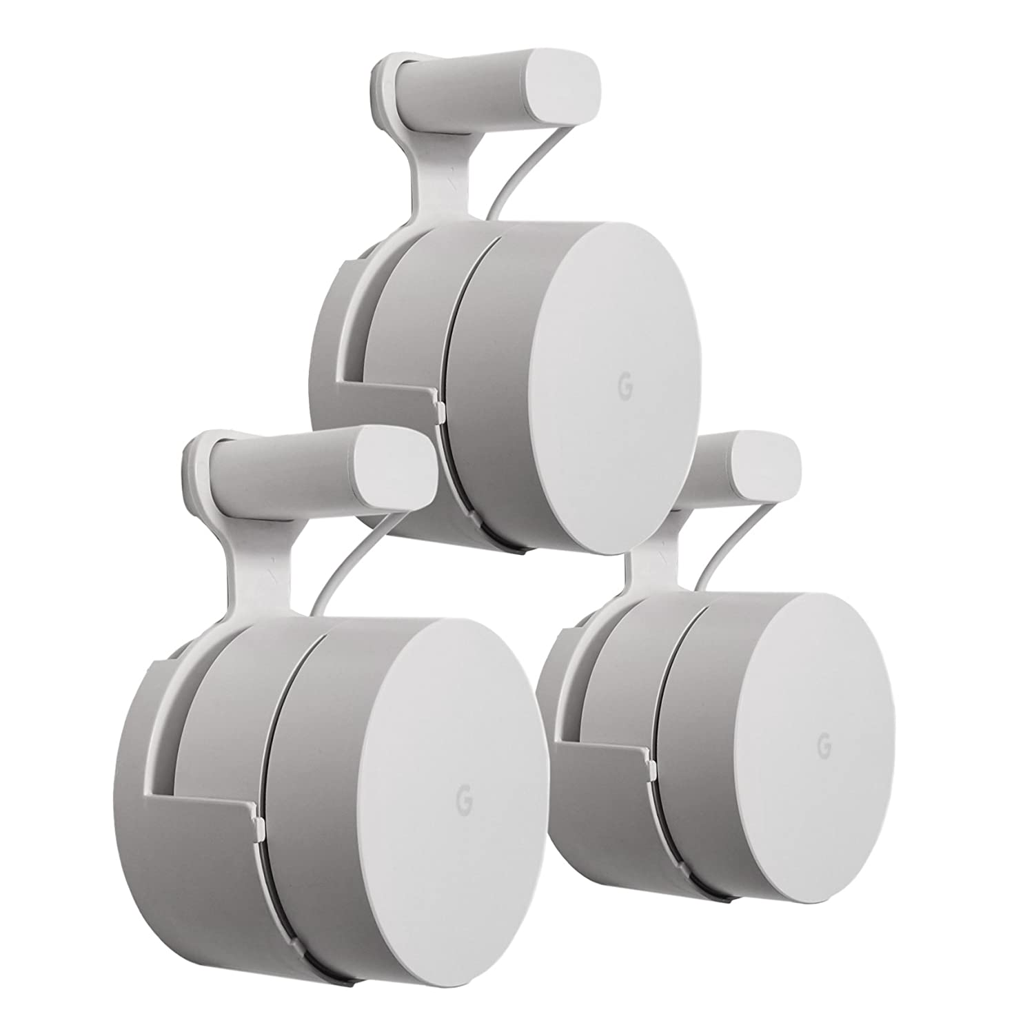 The Spot for Google WiFi by Mount Genie: The Simplest Wall Mount Holder Stand Bracket for Google WiFi routers and Beacons. No Messy Screws! (3-Pack)