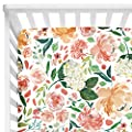 Baby Floral Fitted Crib Sheet For Boy And Girl Toddler Bed Mattresses Fits Standard Crib Mattress 28x52 Secret Garden