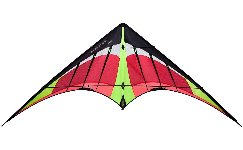 Prism Hypnotist Dual Line Framed Stunt Kite with 75' Tube Tail Bundle (3 Items) + Prism 75ft Tube Tail + WindBone Kiteboarding Lifestyle Stickers + Key Fob (Fire) by Prism, WindBone (Image #4)