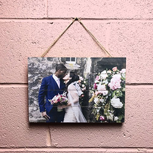 "- Personalized Picture on Wood Pallet, Custom Photo Pallet, Photo on Wood 5th, Pallet Wall Art, Rustic Home Decor, Picture Frame, Customized Wood Print, Wood Photo - 8""x10"""