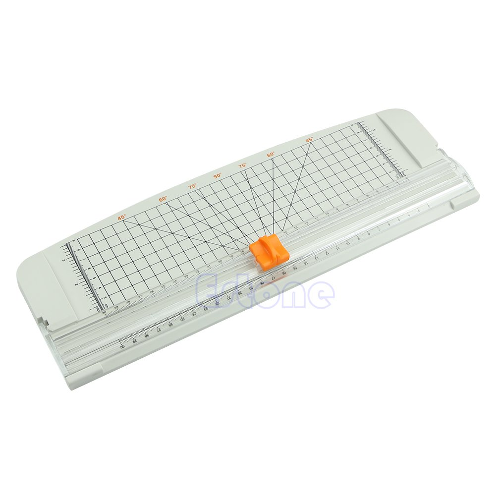 Kocome White Orange Jielisi 909-4 A4 Guillotine Ruler Paper Trimmer Cutter Useful