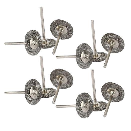 OOTSR 45 piezas cepillos de rueda de alambre de acero,limpieza de cepillo del acero inoxidable de pulido fijada para las herramientas rotatorias