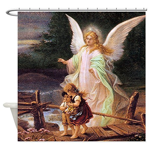Curt Rod - CafePress - Guardian Angel With Children On Bridge Shower Curt - Decorative Fabric Shower Curtain (69